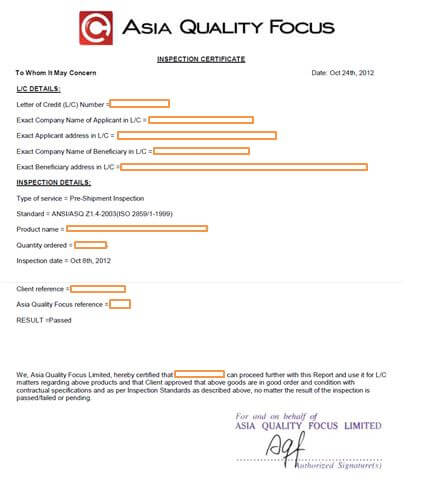 Letter Of Credit For Importers The Certificate  Aqf