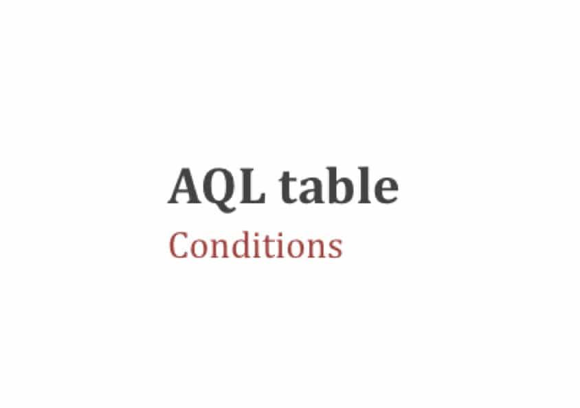 Comment utiliser la table aql les conditions aqf - Comment utiliser les couverts a table ...